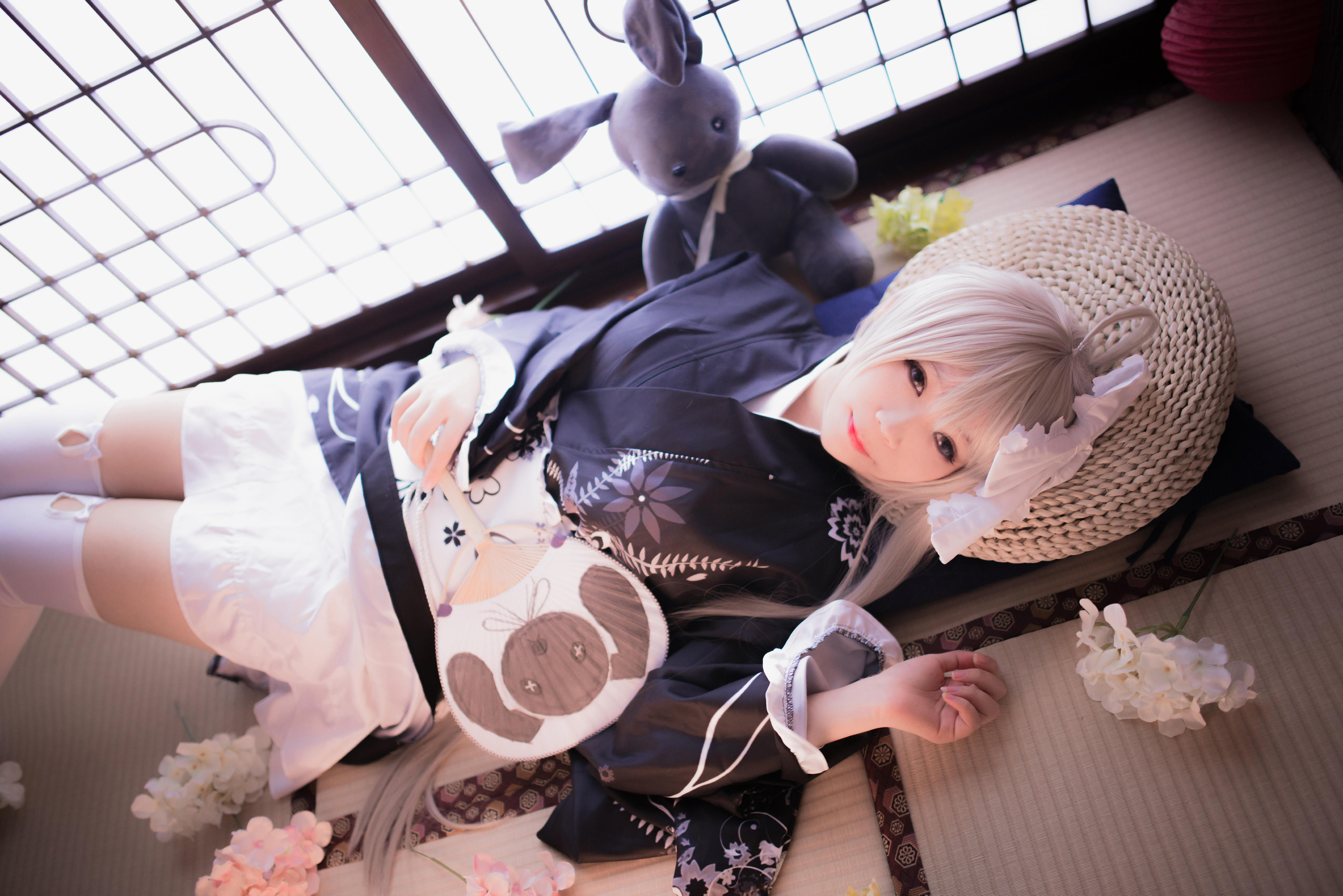 【Cosplay】缘之空 白丝
